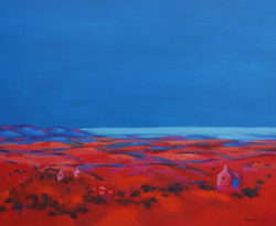 Steadings_at_Dusk_40x40